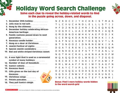 a happy holiday word search worksheets printables