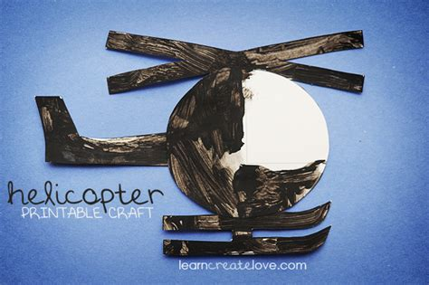 printable helicopter craft 629 | crafty 066