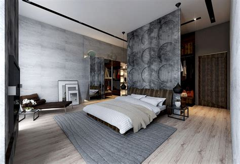 Concrete Feature Wall Panels Artful Design Ideas For Bedroom concrete wall designs 30 striking bedrooms that use