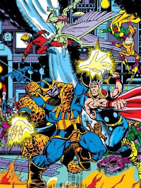 avengers  thanos  jim starlin super heroes arte