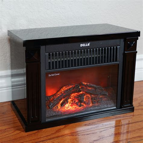Infrared Tabletop Space Heater Flame Effect Mini Electric