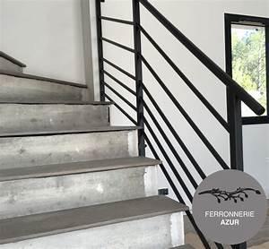 Rampe D Escalier Moderne : rampe pour escalier en metal grasse alpes maritimes 06 ~ Melissatoandfro.com Idées de Décoration