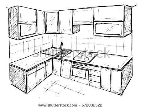 sketch kitchen design kitchen sketch stock images royalty free images vectors 2288