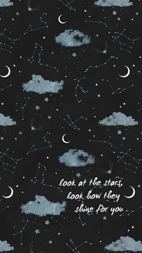 iphone wallpaper aesthetic tumblr sky stars moon shine