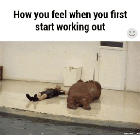 Working Out Meme - when you first start working out memes com