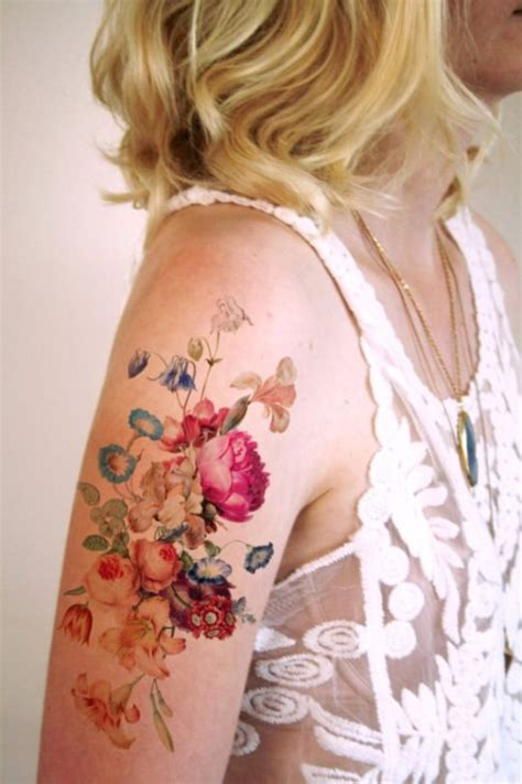 feminine flower tattoo designs  women
