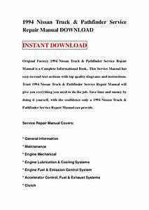 1994 Nissan Truck  U0026 Pathfinder Service Repair Manual Download