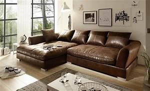 Ecksofa Leder Braun : big sofa l form vintage braun links modell real ~ Watch28wear.com Haus und Dekorationen