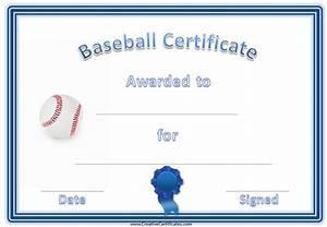 Baseball awards for Baseball award certificate