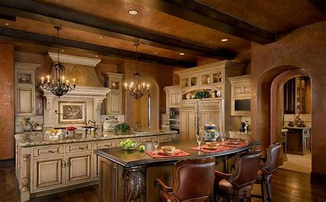 alluring tuscan kitchen design ideas with a warm kitchen big hoods between tuscany kitchen cabinets facing