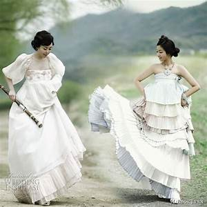 and this is the fashionable fusion hanbok modern With hanbok inspired wedding dress