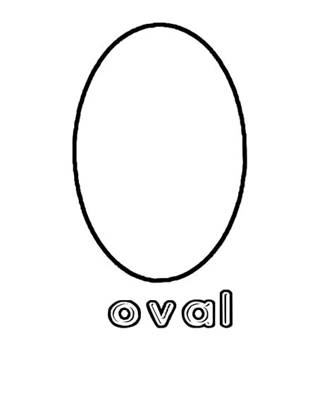 Balance Sheet Template Free Best Photos Of Preschool Shapes Oval Oval Shape Coloring Page Oval Shape Worksheets For
