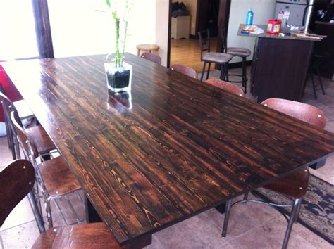 Custom Made Red Mahogany Dining Table by Redvine Design