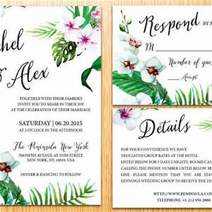 best wedding invitation kits products on wanelo With free printable tropical wedding invitations