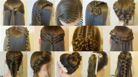cute  easy hairstyles    school hair