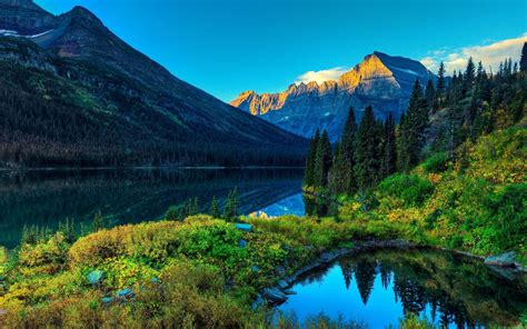 Mountain And Lake Landscape Wallpaper Photogra #11528
