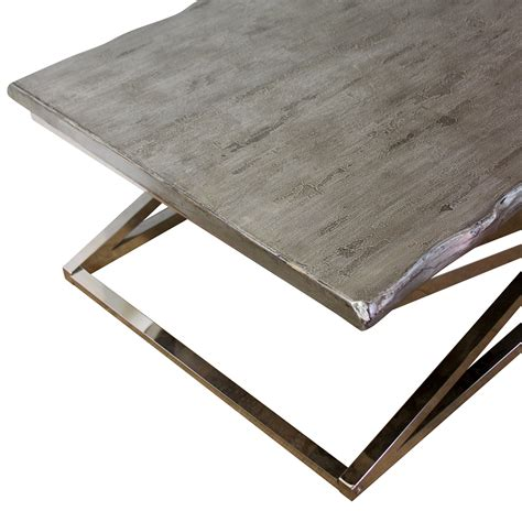 chrome coffee table legs voltin live edge coffee table with chrome legs madera