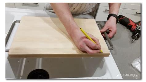 Over-the-sink Ikea Cutting Board Hack
