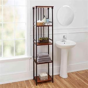 ava bathroom collection 5 tier linen shelf oil rubbed With ava bathroom furniture
