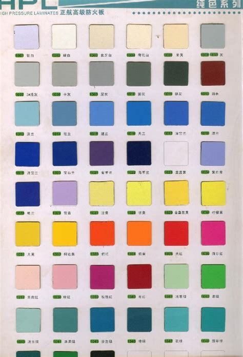 solid colour hpl laminate sheets 1001 1051 zhenghang