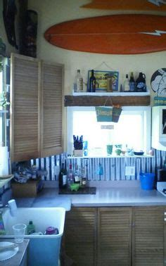 surf shack coastal kitchen for my surf shack on surfboard shutters and 5947