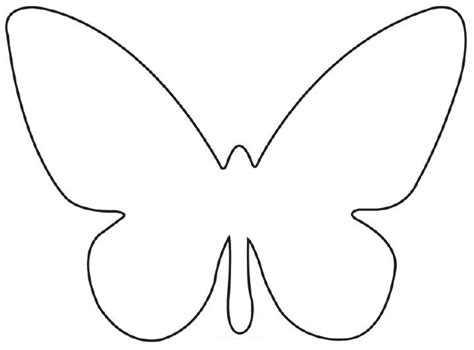 butterfly template printable cut