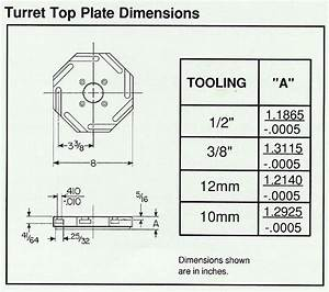 hardinge turret plate 3 8 or 1 2 how to tell With quick navigation general electrical forum top