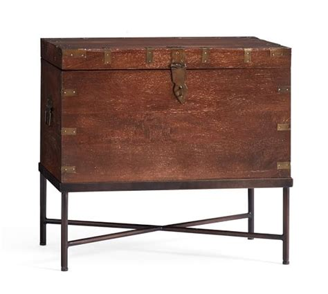 timor wood trunk accent table pottery barn