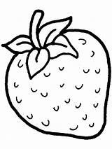 Coloring Strawberry Berries Printable sketch template