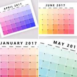 Printable Bold Monthly Calendar 2017