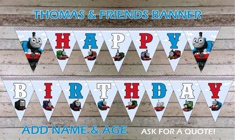 Thomas And Friends Happy Birthday Banner, Bunting, Flags. Pro Signs. Sunlight Murals. Tmax Decals. Adidas Logo. Venator Class Logo. Print My Stickers. Back Window Decals. Advertisement Signs