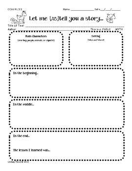 grade common core reading graphic organizers