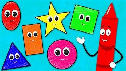 Shapes Song Songs Learn Rhymes Crayons Nursery