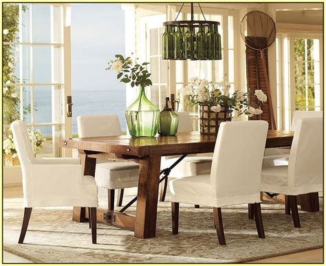 pottery barn slipcovers for chairs home design ideas