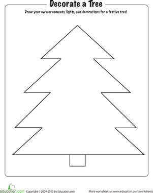 decorate your own christmas tree worksheet parts of a tree lesson plan education lesson plan education