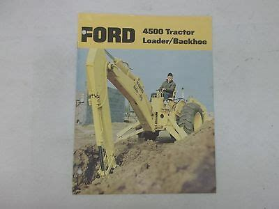 ford backhoe owners guide  business  industrial