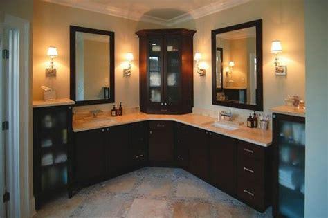 Bathroom Inspiration, Corner Cabinets And Vanities On