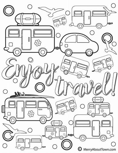 Coloring Camper Pages Campers Retro Printables Travel