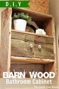 diy barnwood bathroom cabinet the creek line house With homemade barnwood furniture