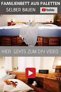 Palettenbett Bauen 140x200 Anleitung : palettenbett selber bauen kaufen in 2020 bett aus ~ Watch28wear.com Haus und Dekorationen