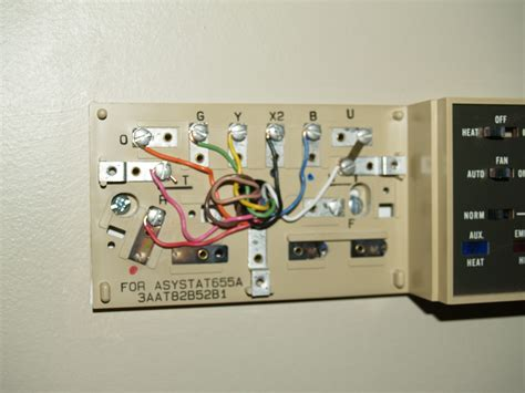Wiring Diagram For Weathertron Thermostat by I A Honeywell Thomstat Asystat 655a And I Want To Replace