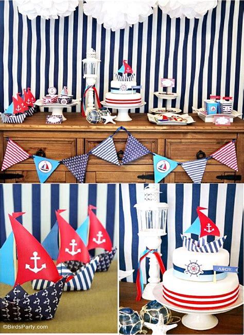 Ideas Nautical Theme by A Preppy Nautical Birthday Deserts Table