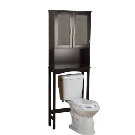 metal over toilet cabinet furniture espresso glossy wooden freestanding storage