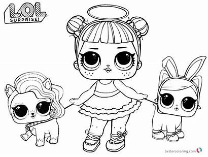 Lol Coloring Dolls Pages Doll Sugar Pet