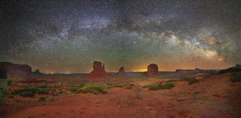 monument valley  night sky telescope