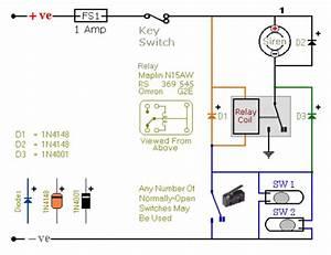 Make Relay Based Motorcycle Alarm Circuit Diagrams