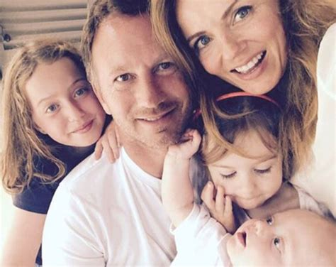 geri horner young geri halliwell shares family photo with christian horner