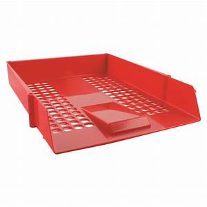 q connect red plastic letter tray cp159kfred With red plastic letter tray