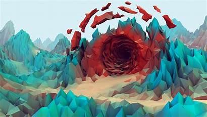 Poly Low Wallpapers Backgrounds Desktop Geometry Landscape