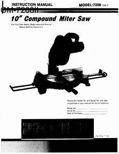 Pro Tech 7208 Type 2 User Manual Compound Miter Saw